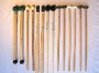 Specialist Percussion Sticks and Mallets exclusively designed by Nigel Shipway